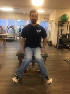 Internal rotation test for piriformis syndrome.