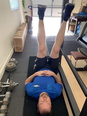 Raise your opposite leg 30 times