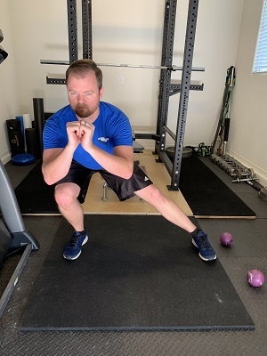 The other leg used in the lateral squat