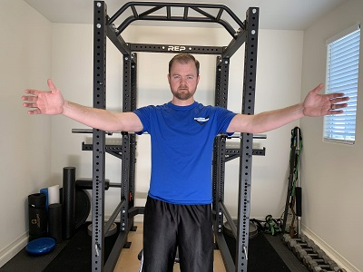 Move your arms slightly out from where they started