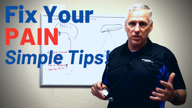 Jeff discusses some simple tips to decrease pain