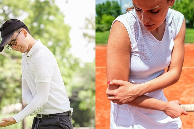 Golfer's elbow vs tennis elbow