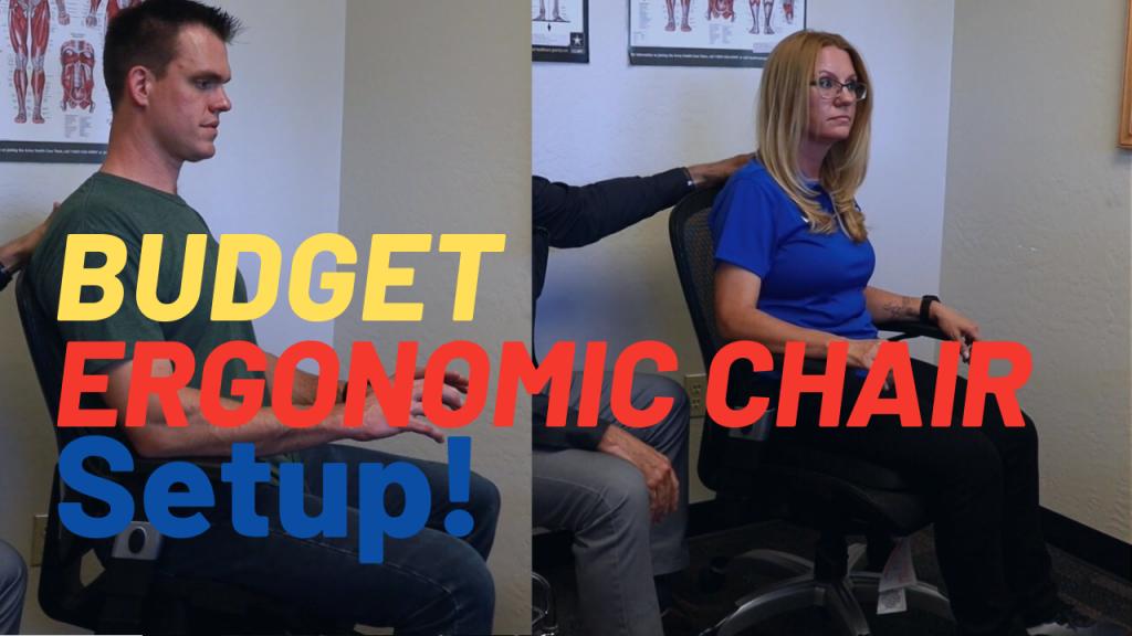 Budget ergonomics chair setup.