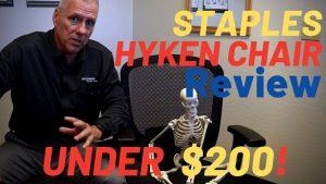 Jeff Petersen reviewing the Staples Hyken Chair.